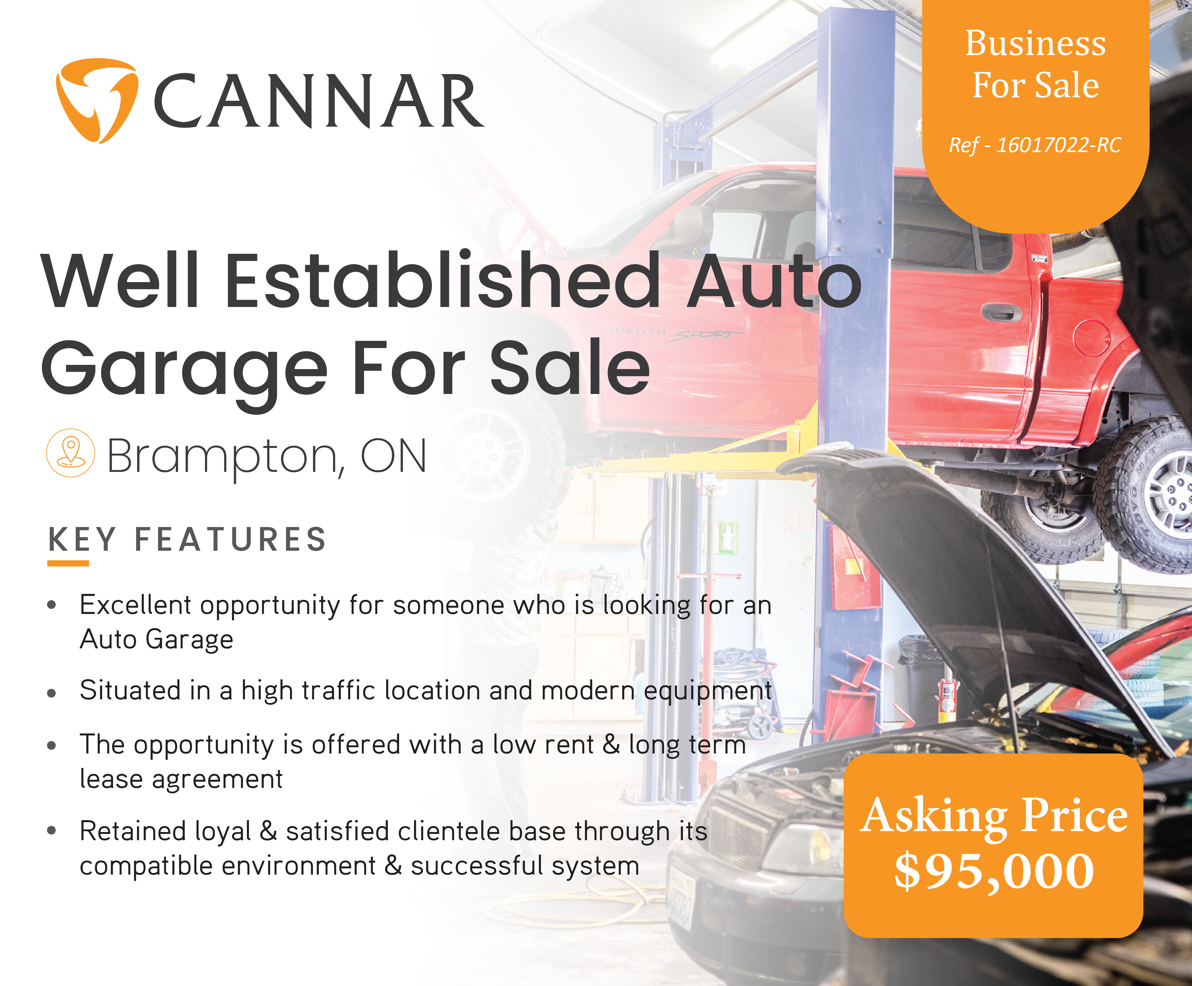 Well Established Auto Garage For Sale In Brampton, ON