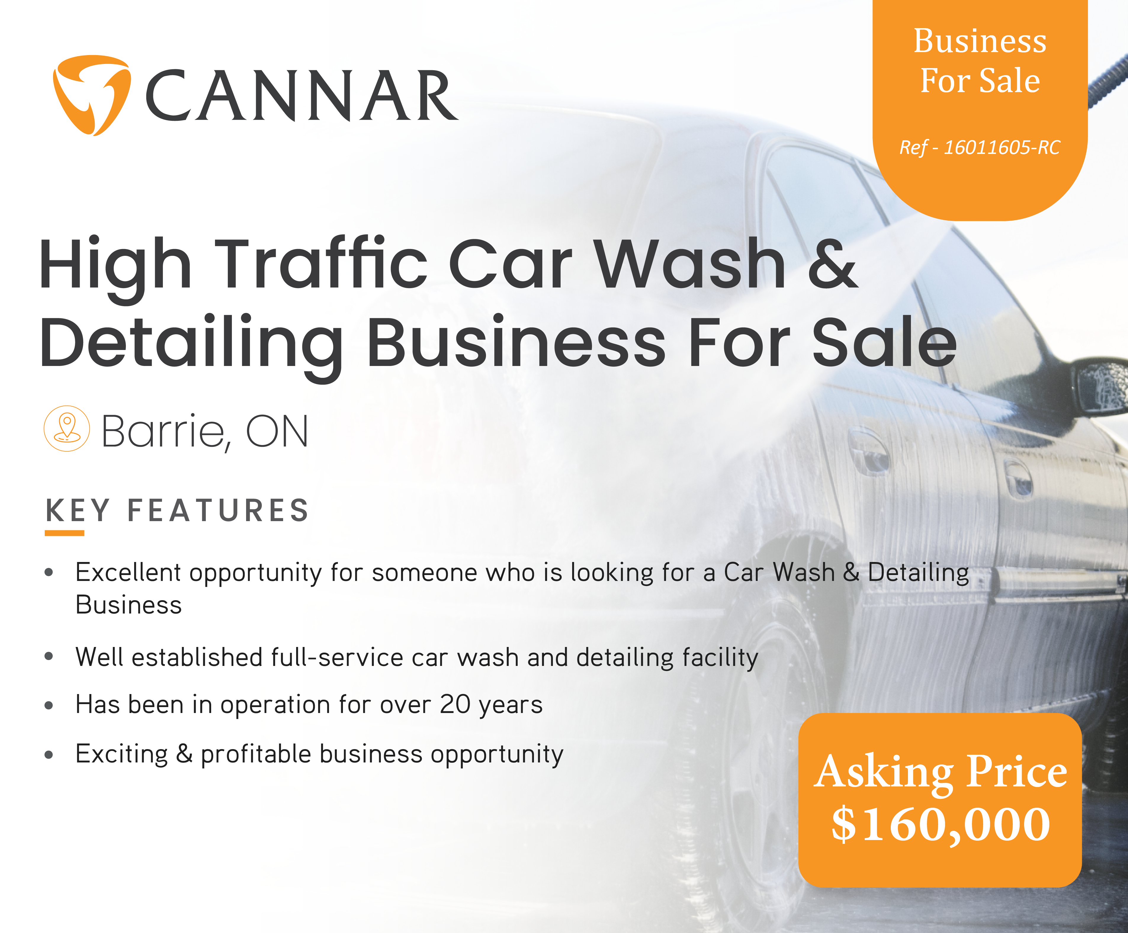 High Traffic Car Wash & Detailing Business For Sale